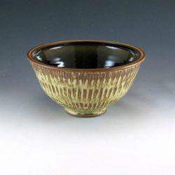 Beige Semi-Gloss Serving Bowl