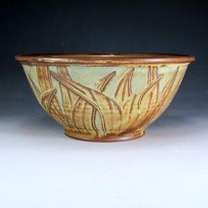 Large Bowl with Leaf Design