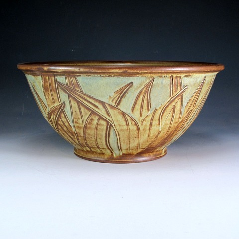 Large Bowl with Leaf Design