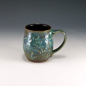 Turquoise Mug with Dot Dimples