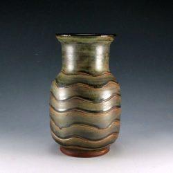 Semigloss Green Glaze Vase