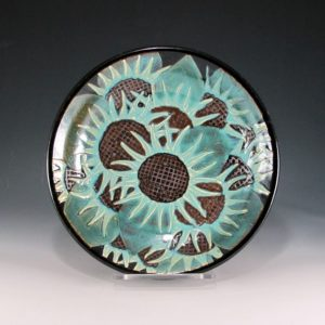 Sunflower Bowl Serving Piece