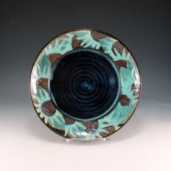 Sunflower Platter Blue Center