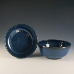 Soup Bowls - Beautiful Chun Cobalt blue Glaze.